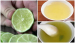 Vắt chanh vào mà nước rau muống có màu này thì dứt khoát không được ăn vì rau đã bị nhiễm hóa chất cực độc