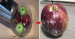Đổ nước nóng lên quả táo mọi hóa chất sẽ hiện lên LỒ LỘ, xem ngay để biết cách bảo vệ sức khỏe