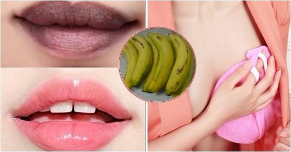 1 quả chuối – 3 công thức trị thâm môi, quầng mắt, làm hồng nhũ hoa, trắng răng, trị mụn