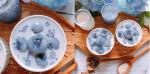 Sữa chua vải hoa đậu biếc đẹp mắt, mát lịm người cho ngày nắng nóng. Thử ngay kẻo hết mùa vải!