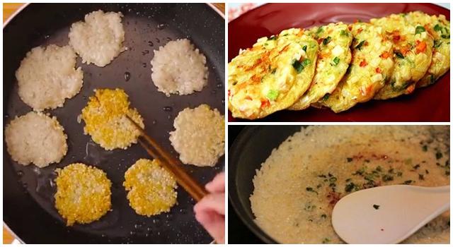 Chỉ 3 phút là có món ngon tuyệt vời từ cơm nguội – các mẹ đừng lãng phí mà bỏ đi nữa!