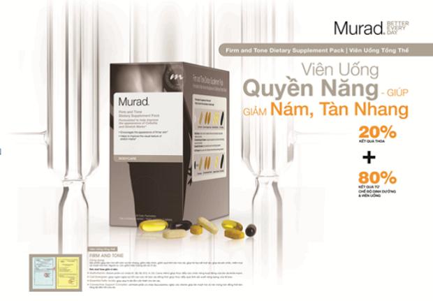 Mua Viên uống tổng thể Murad Firm and Tone Dietary Supplement ở đâu giúp giảm lão hóa chỉ sau 8 tuần?