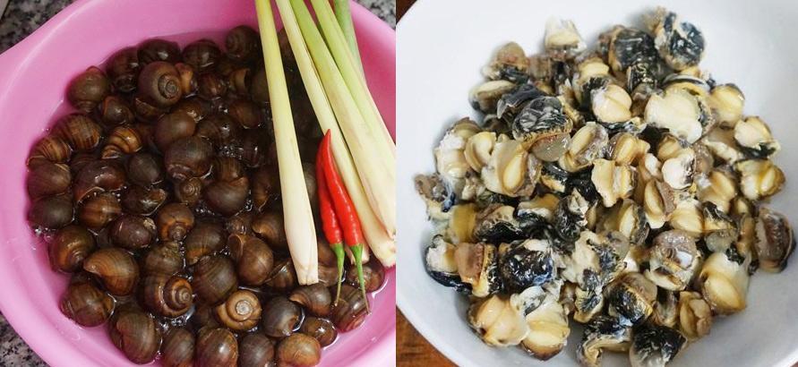 Ngày mưa chẳng cần ra quán mà vẫn được ăn ỐC XÀO SẢ ỚT dai dai, giòn giòn hấp dẫn