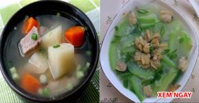 """7 bát canh dành riêng cho BÀ BẦU, giúp mẹ BỔ M ÁU, ngừa cảm cúm, THAI NHI """"tung tăng"""" lớn khỏe"""