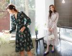 Váy hoa diện mùa hè xinh xắn đã đành, mùa đông cũng có rất nhiều cách ứng dụng