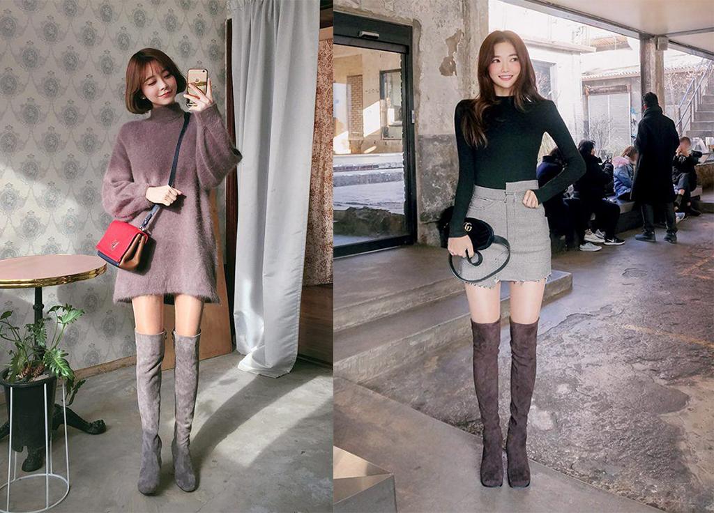 Xu hướng diện giày boot cao cổ thật phong cách cho các nàng tự tin đi chơi, đi làm