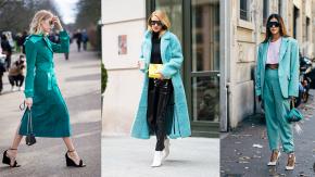 Tuyệt phẩm của mùa Đông 2018 - Trang phục xanh ngọc lam xuất hiện tràn ngập các hãng thời trang