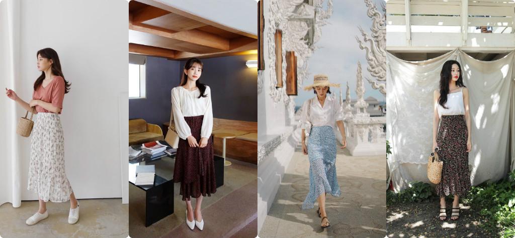 Chân váy hoa - Trend Hot 2019 được mọi cô gái tìm mua