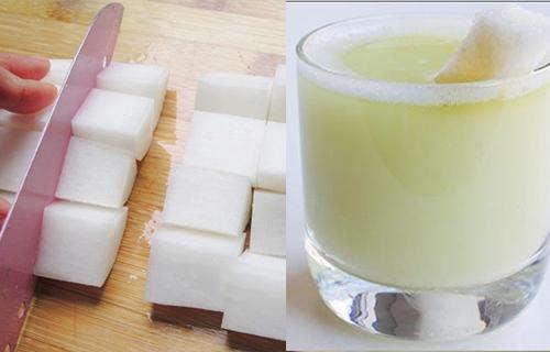 Nhờ uống nước củ cải mỗi tối, da trở nên căng bóng và trắng hồng chỉ sau vài ngày