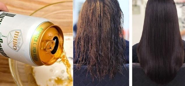 3 công thức ủ tóc cùng Bia Tươi giúp tóc óng mượt, mềm mại