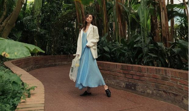 Váy dài chính là item siêu sang chảnh, yêu kiều và hợp rơ với tiết trời se lạnh