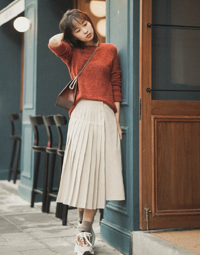 3 kiểu mix&match cho 3 kiểu áo len trơn màu siêu xinh