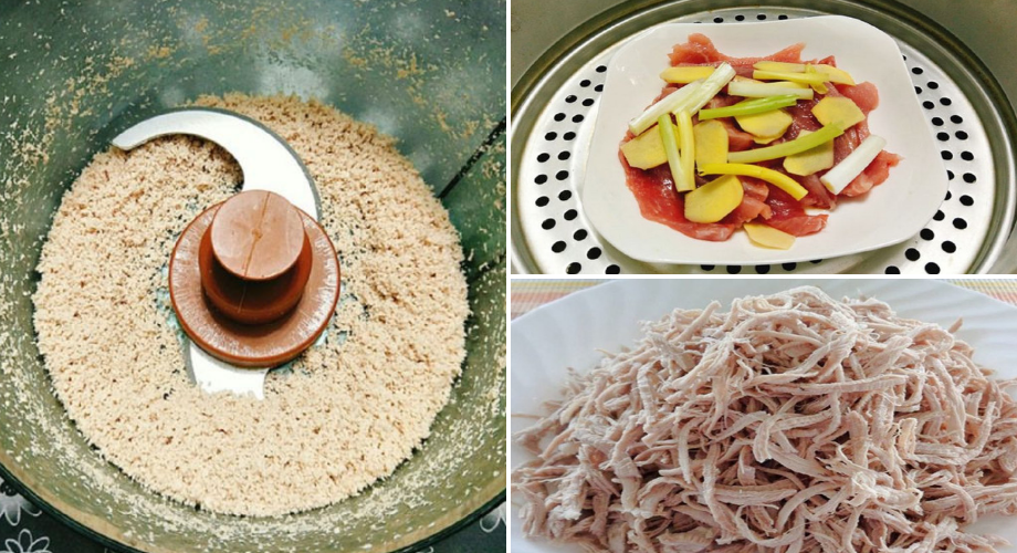 Tự làm hạt nêm thịt heo siêu đơn giản tại nhà bằng chảo chống dính chưa đầy 60 phút