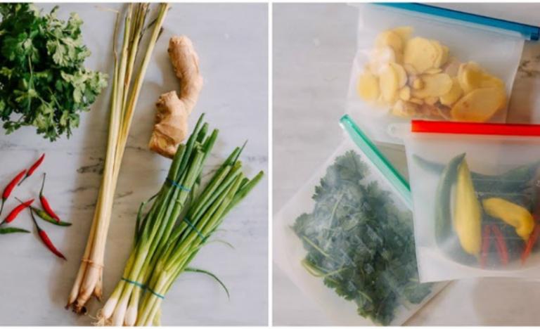 Cách trữ đông các loại rau gia vị tươi lâu