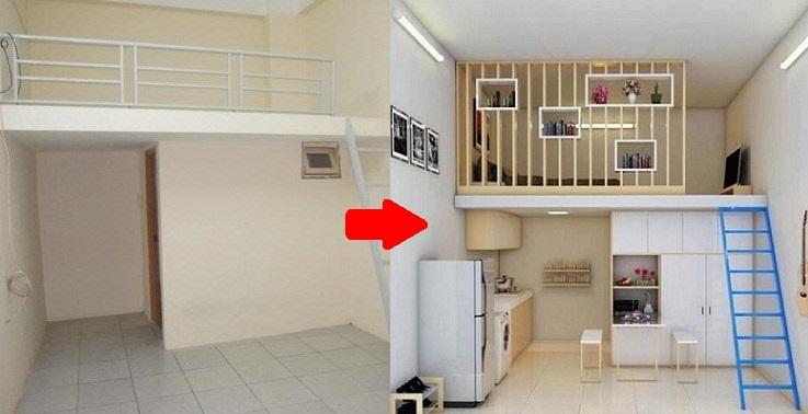 Phòng trọ 20m2 chẳng khác gì căn hộ cao cấp sau khi được thiết kế lại