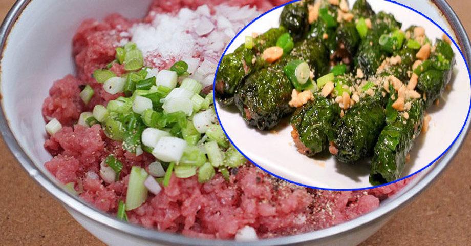 Cách làm bò nướng lá lốt bằng chảo chống dính thơm ngon, nhanh gọn
