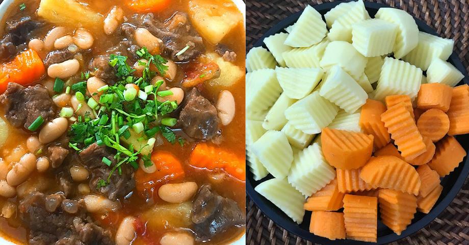 Đổi vị với món bò hầm đậu thơm ngon và giàu dinh dưỡng cho bữa ăn gia đình
