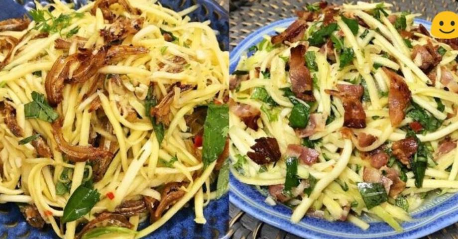 2 cách làm món gỏi xoài chua chua, cay cay, giòn ngon đơn giản cho bữa cơm chiều