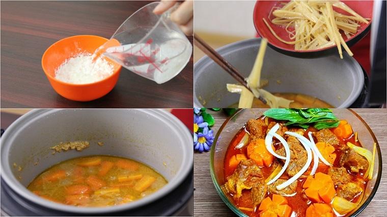 Cách nấu bò kho bằng nồi cơm điện mềm thơm, đậm đà