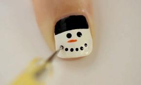 Cách vẽ 10 mẫu nail tuyệt đẹp dành riêng cho Giáng sinh: Ông già tuyết