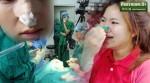 Thiếu nữ liều lĩnh tự dùng kẹp quần áo làm gọn mũi