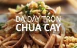 Dạ dày trộn chua cay cho ngày chán cơm, thèm nhậu
