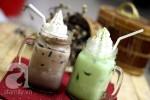 Cách làm matcha đá và cacao kem sữa