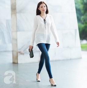 Kết hợp thanh lịch và cuốn hút với 4 kiểu quần jeans xanh không thể lỗi mốt