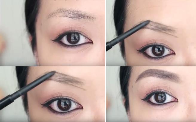 Dùng bút chì kẻ lông mày để tạo sức hút cho gương mặt